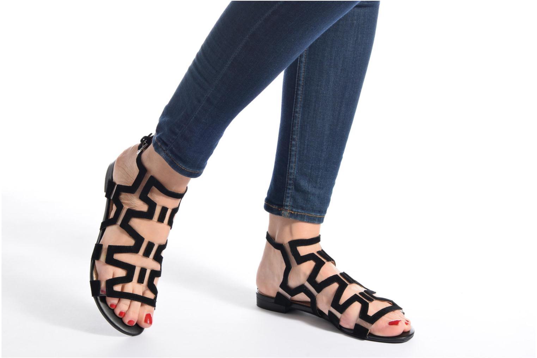 Sandales et nu-pieds Guess RAMLEE Or et bronze vue bas / vue portée sac