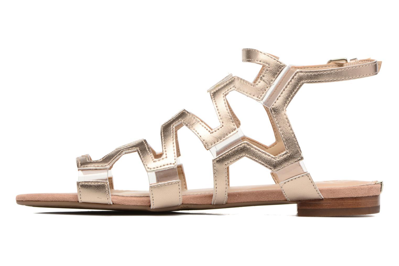 Sandales et nu-pieds Guess RAMLEE Or et bronze vue face