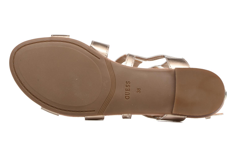 Sandales et nu-pieds Guess RAMLEE Or et bronze vue haut