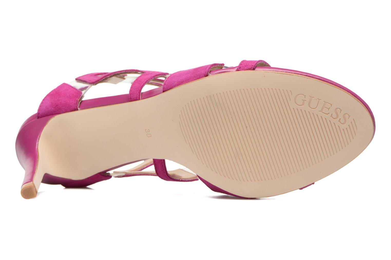 Sandales et nu-pieds Guess CYARRA Violet vue haut