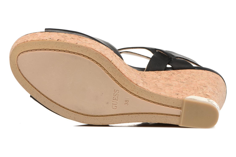 Sandales et nu-pieds Guess HARANA Noir vue haut