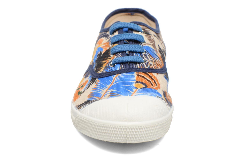 Baskets Bensimon Tennis Pencil Flowers Bleu vue portées chaussures