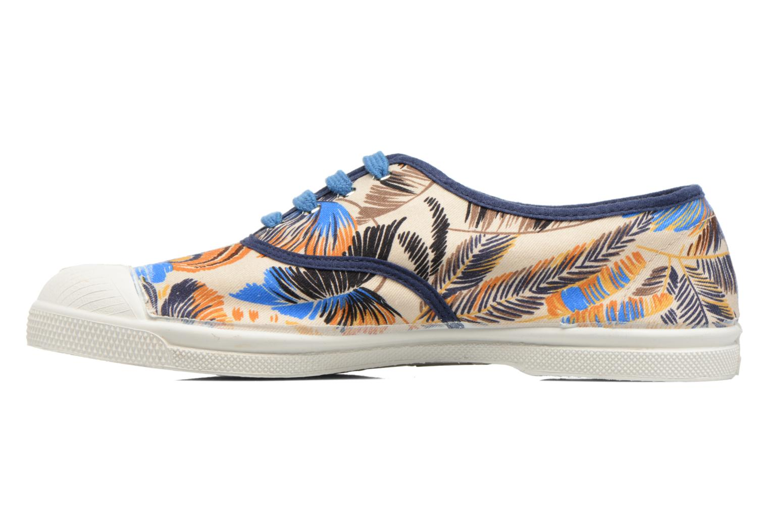 Trainers Bensimon Tennis Pencil Flowers Blue front view