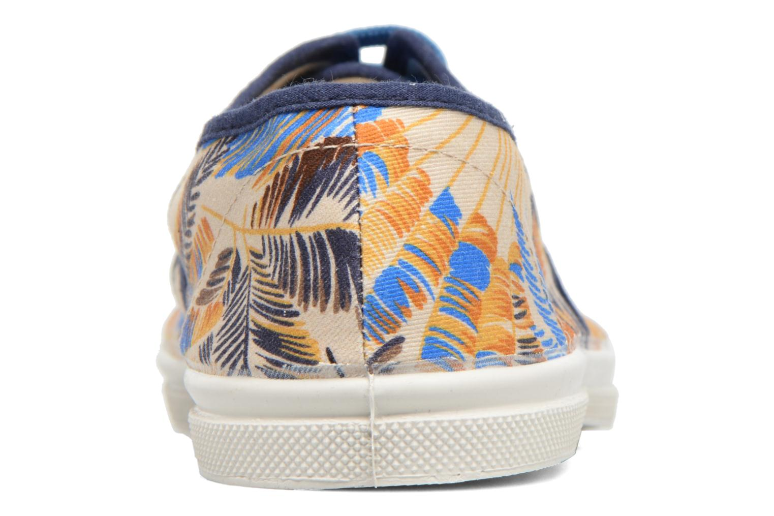 Trainers Bensimon Tennis Pencil Flowers Blue view from the right