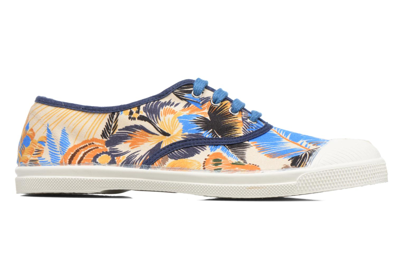 Trainers Bensimon Tennis Pencil Flowers Blue back view