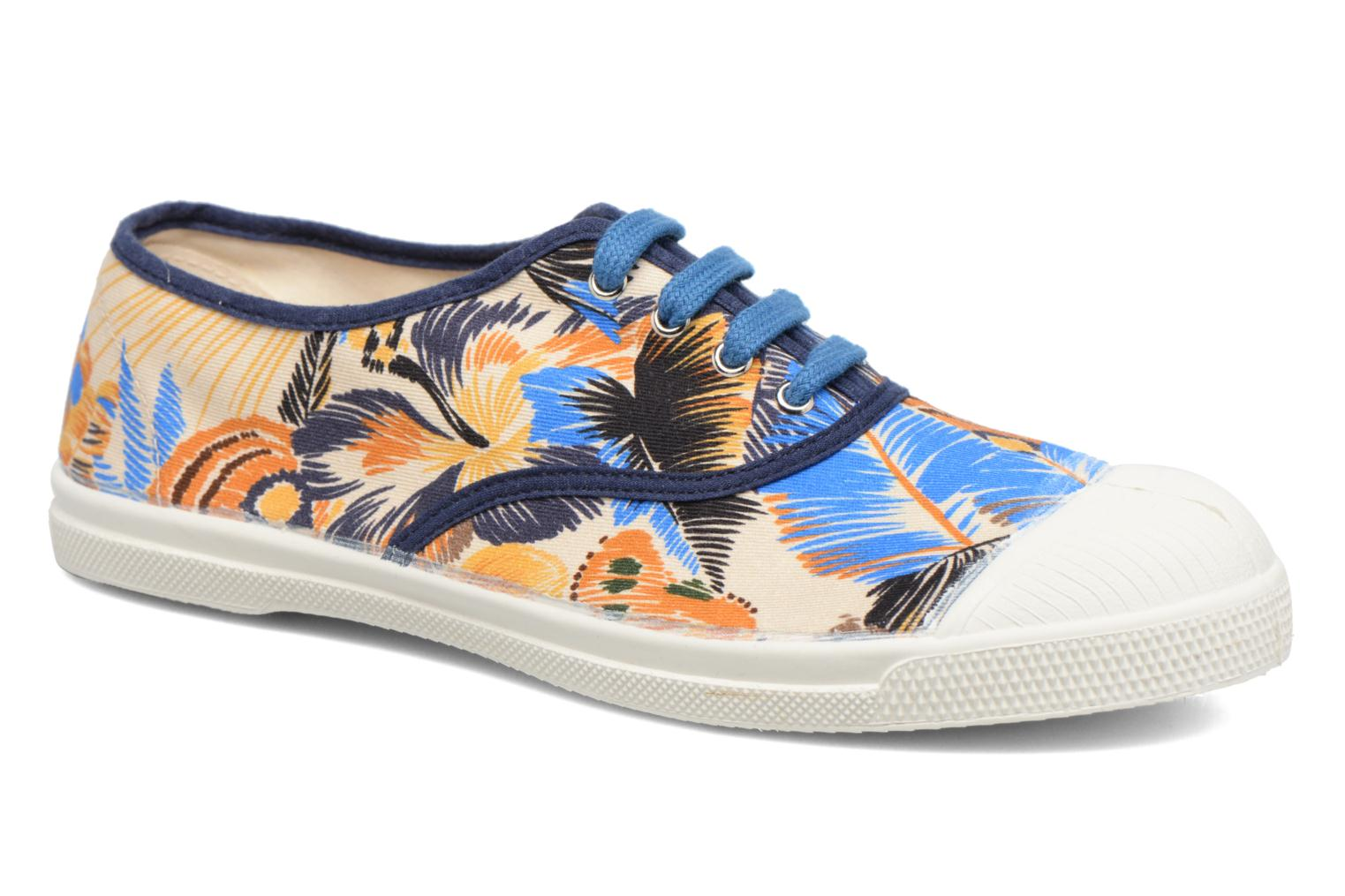 Trainers Bensimon Tennis Pencil Flowers Blue detailed view/ Pair view