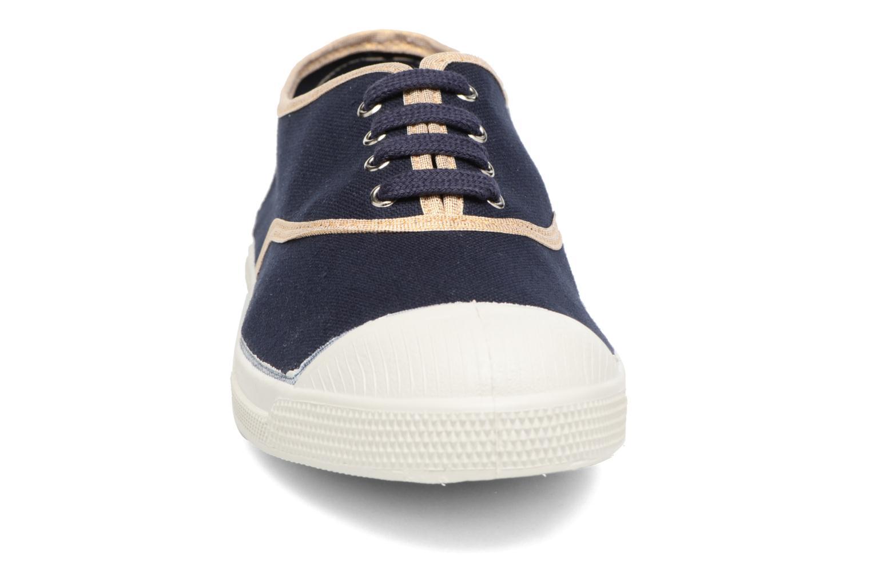 Baskets Bensimon Tennis Shinypiping Bleu vue portées chaussures