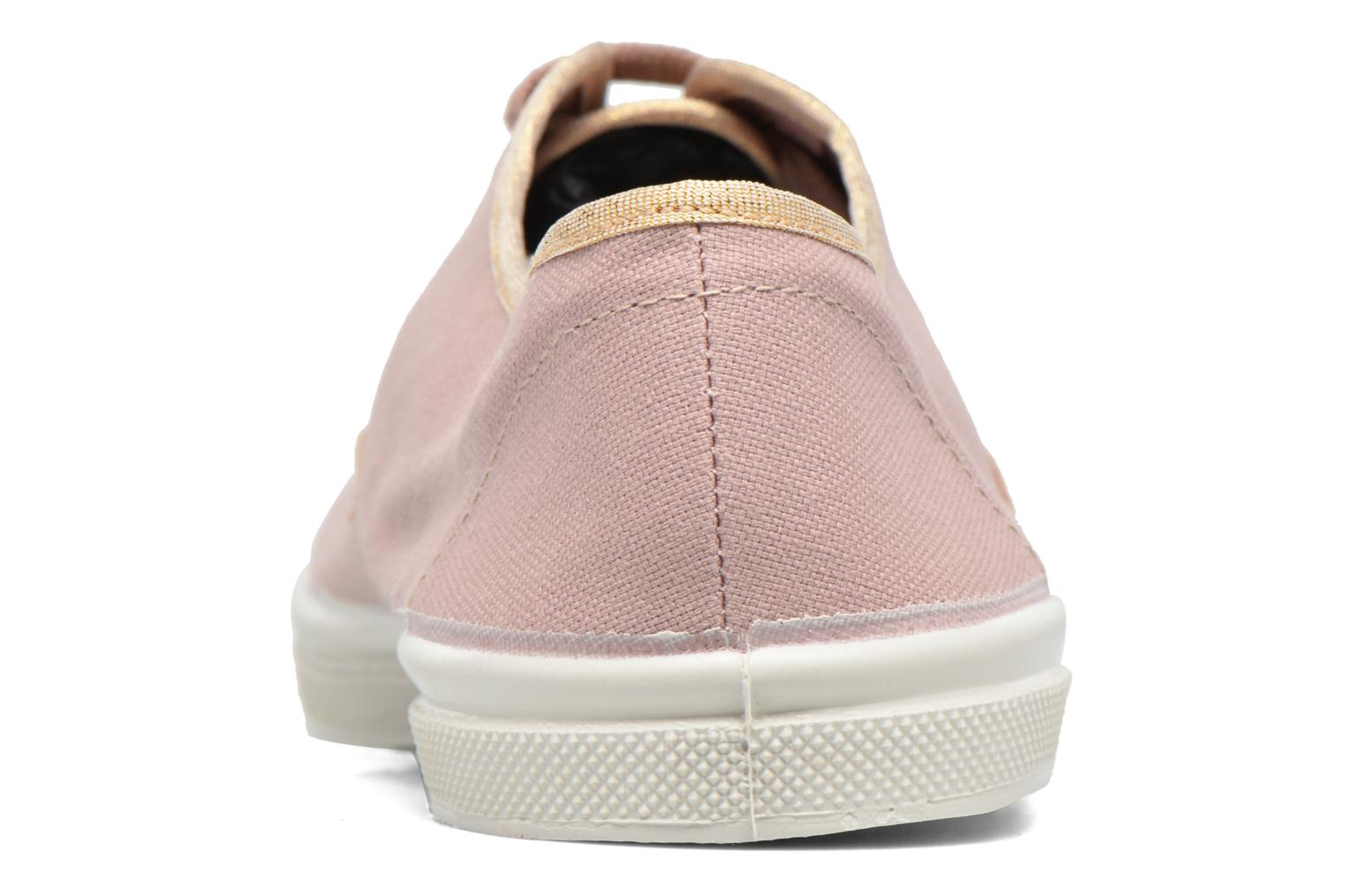 Trainers Bensimon Tennis Shinypiping Pink view from the right
