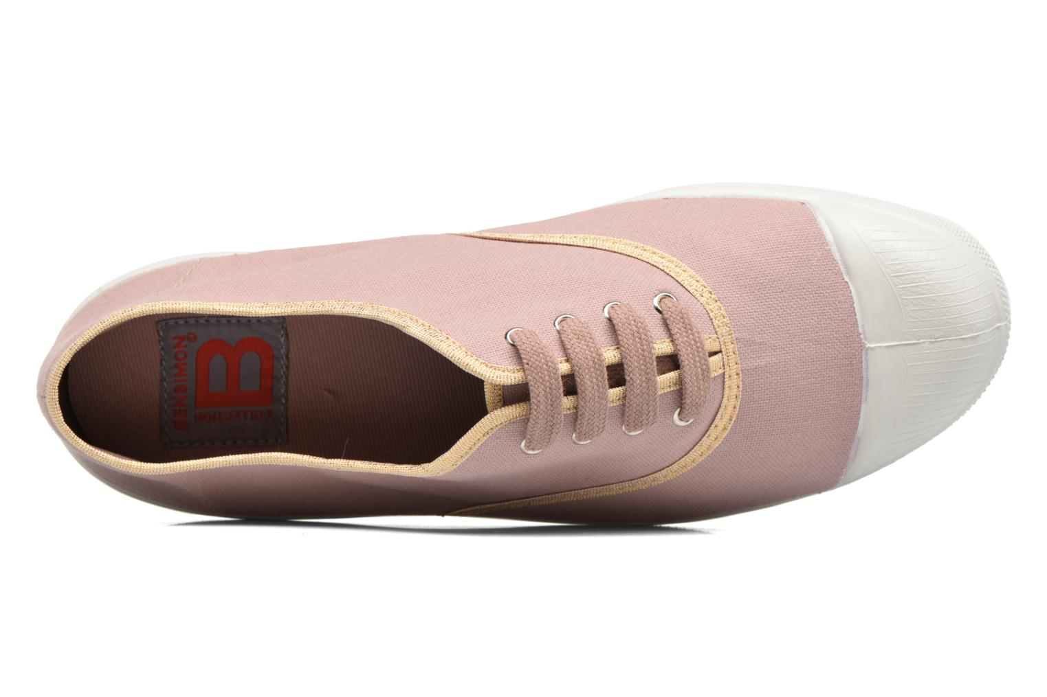 Trainers Bensimon Tennis Shinypiping Pink view from the left