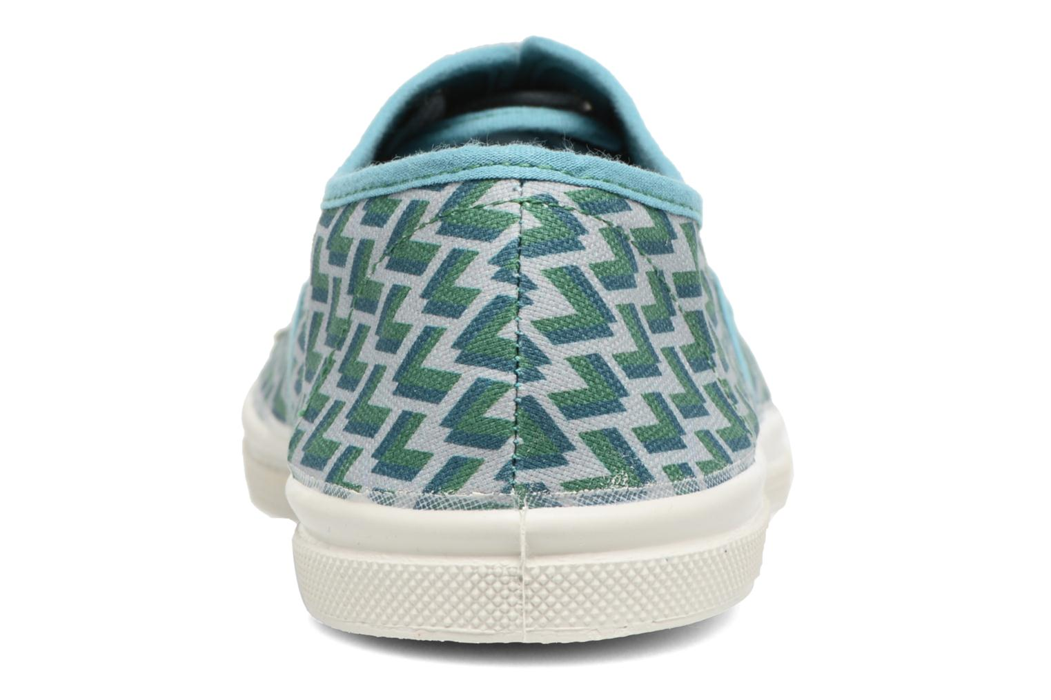 Trainers Bensimon Tennis Retro Triangle Green view from the right