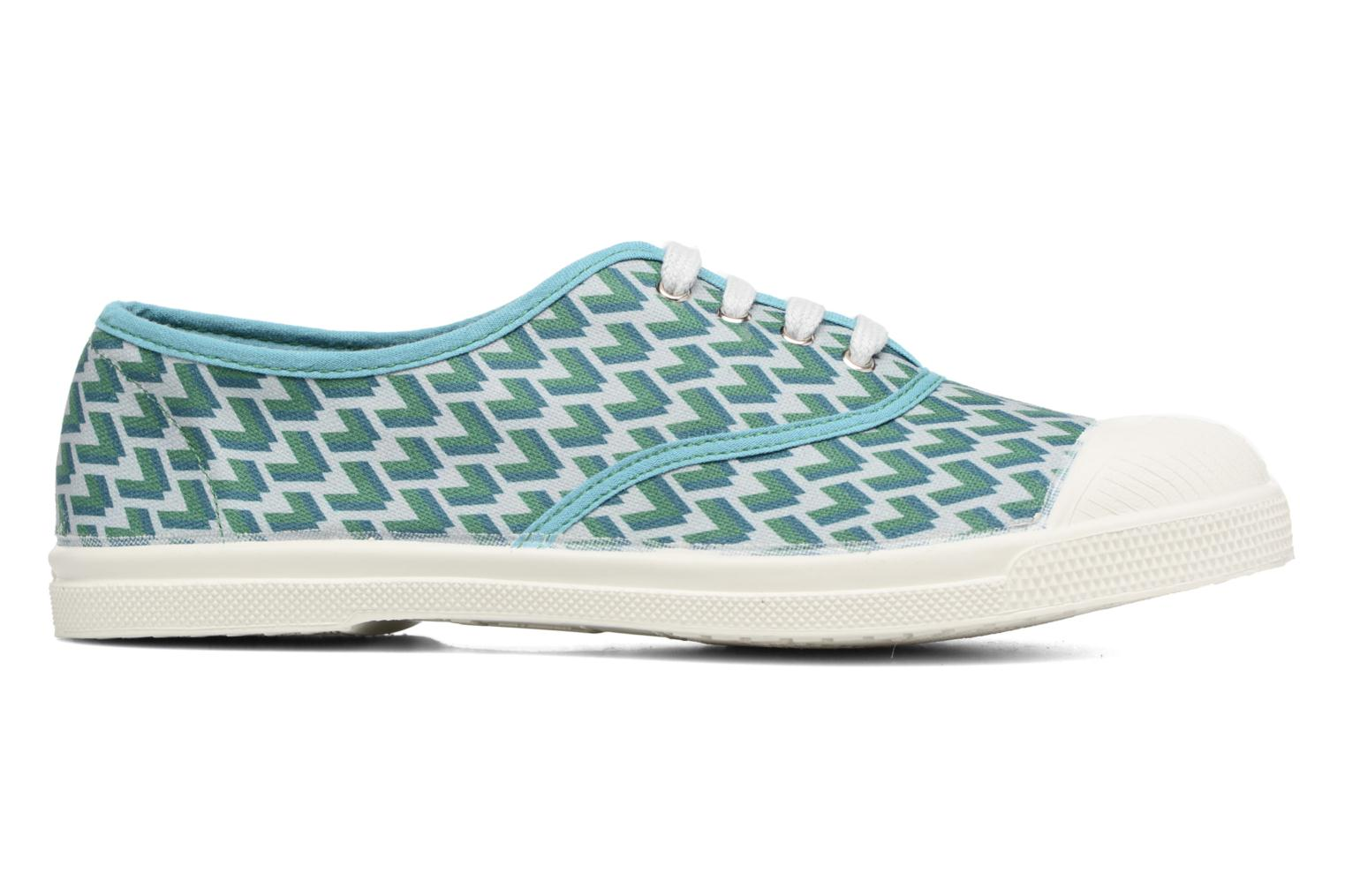 Trainers Bensimon Tennis Retro Triangle Green back view