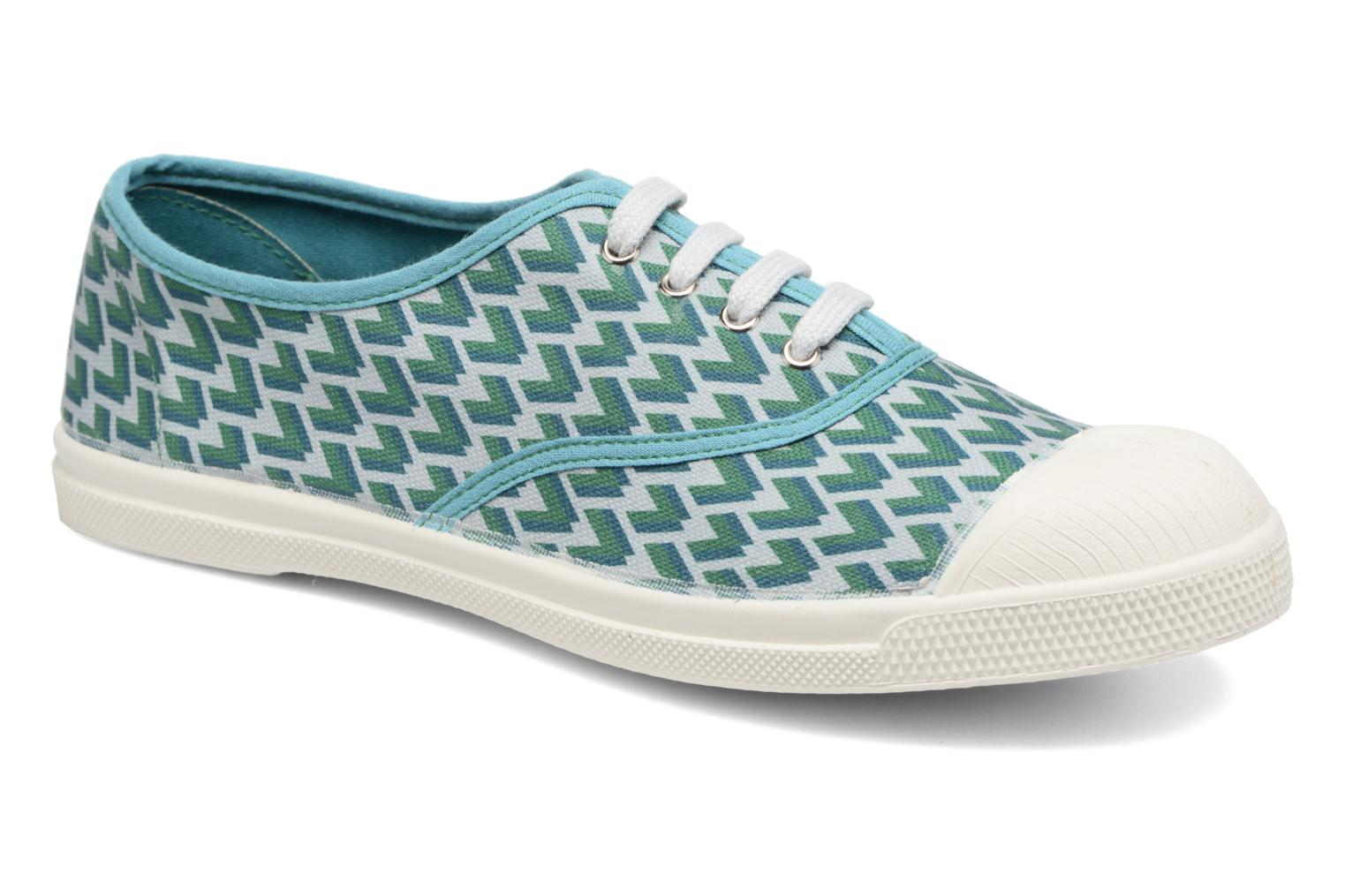 Trainers Bensimon Tennis Retro Triangle Green detailed view/ Pair view
