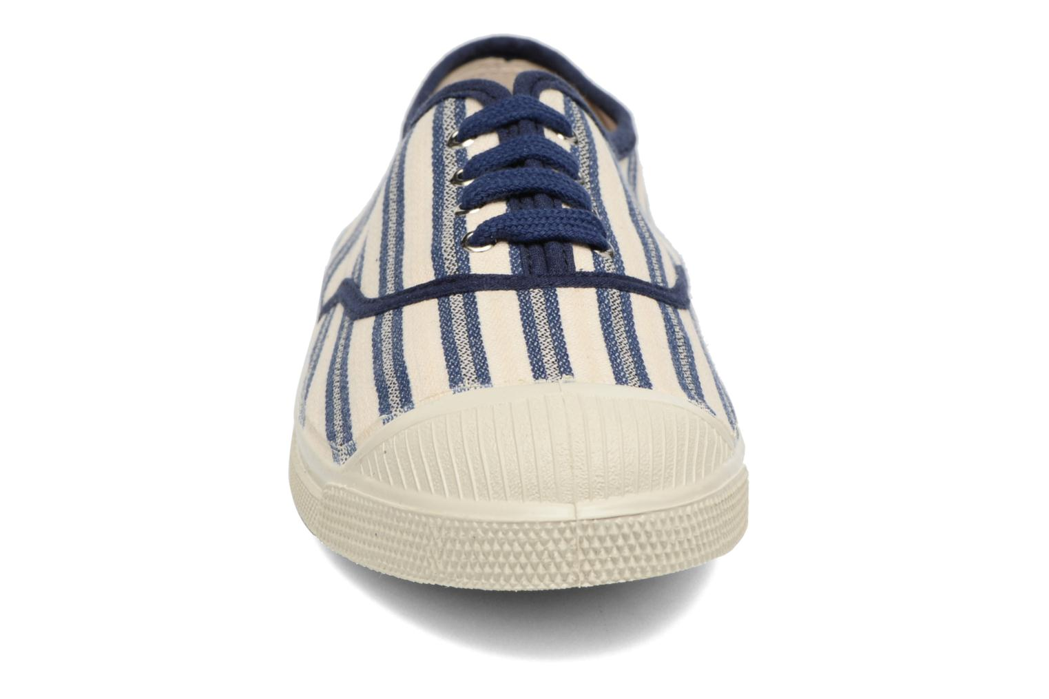 Trainers Bensimon Tennis Rayures Transat Blue model view