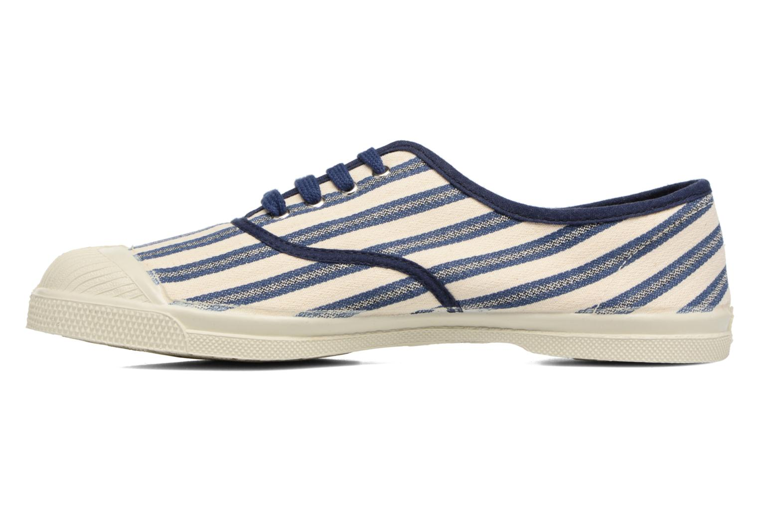 Trainers Bensimon Tennis Rayures Transat Blue front view