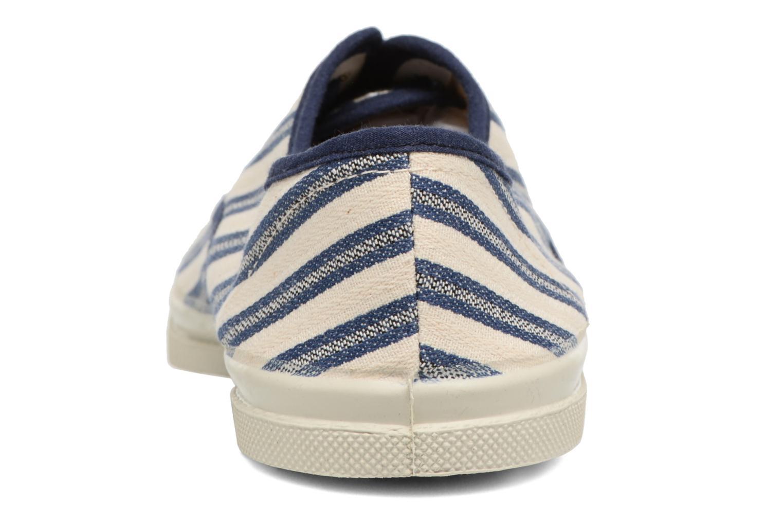 Baskets Bensimon Tennis Rayures Transat Bleu vue droite