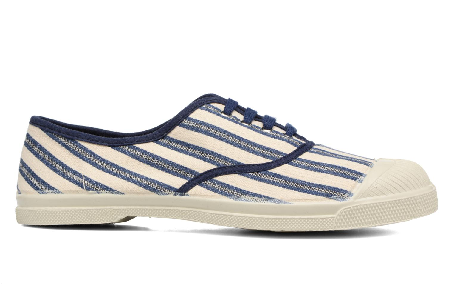 Trainers Bensimon Tennis Rayures Transat Blue back view