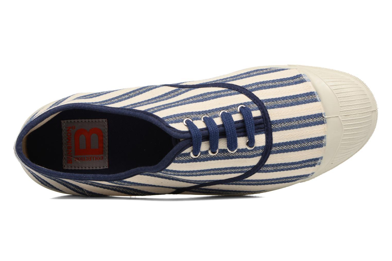 Baskets Bensimon Tennis Rayures Transat Bleu vue gauche