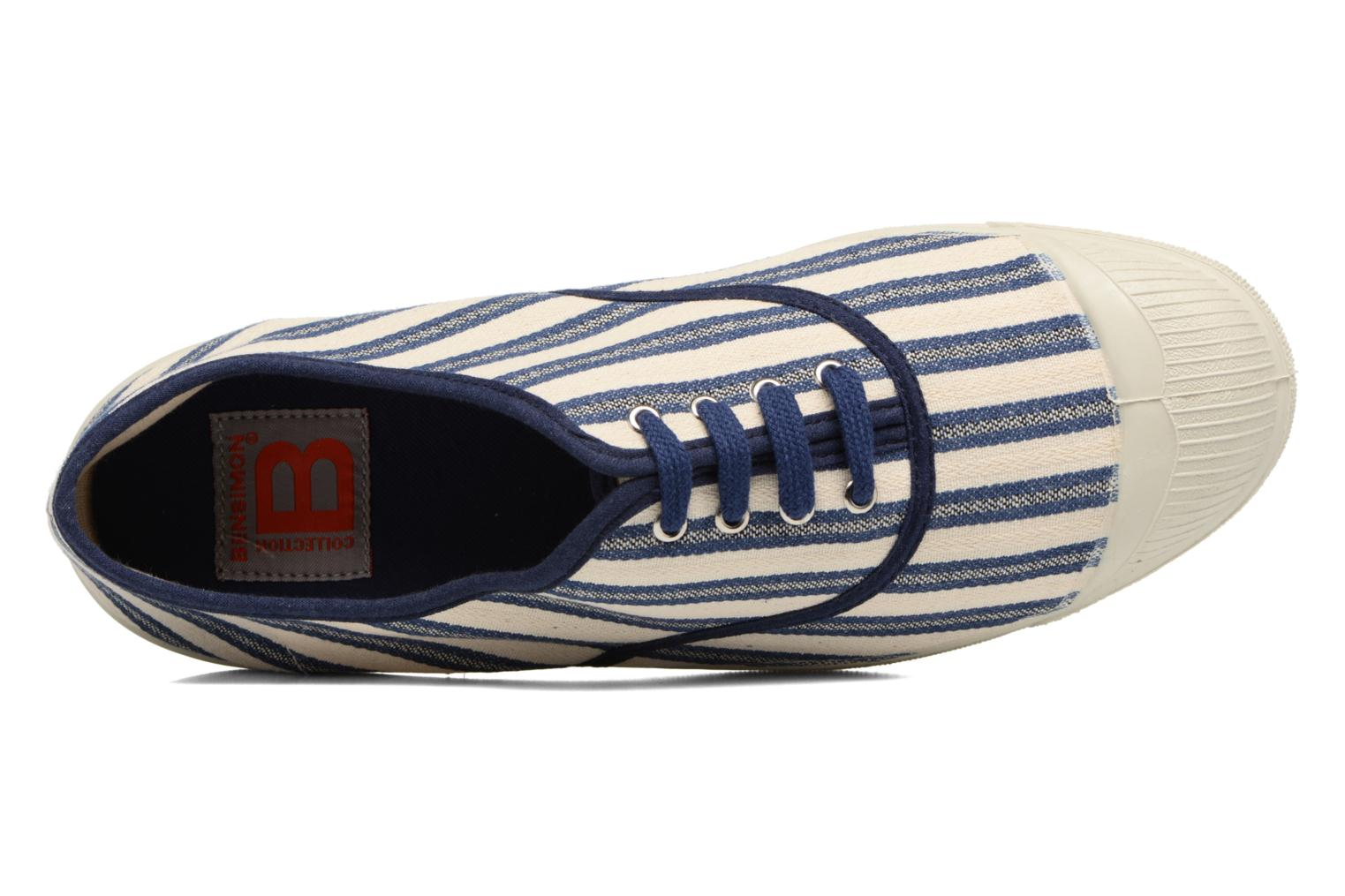 Trainers Bensimon Tennis Rayures Transat Blue view from the left