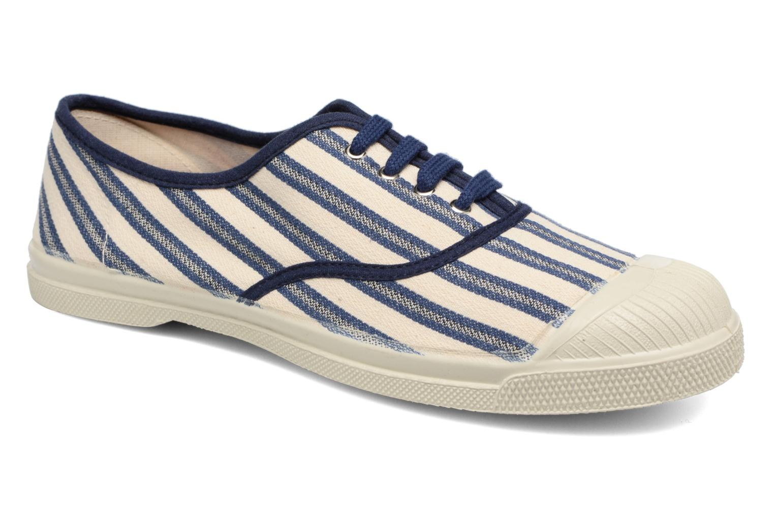 Trainers Bensimon Tennis Rayures Transat Blue detailed view/ Pair view