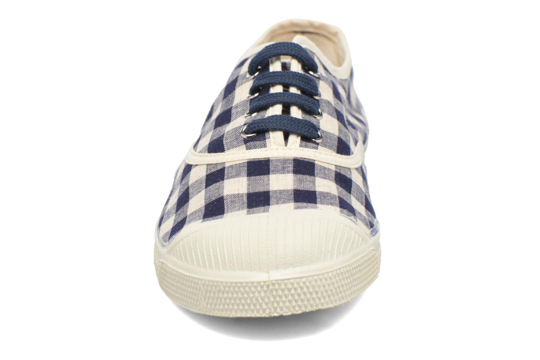 Baskets Bensimon Tennis Vichy Lin Bleu vue portées chaussures