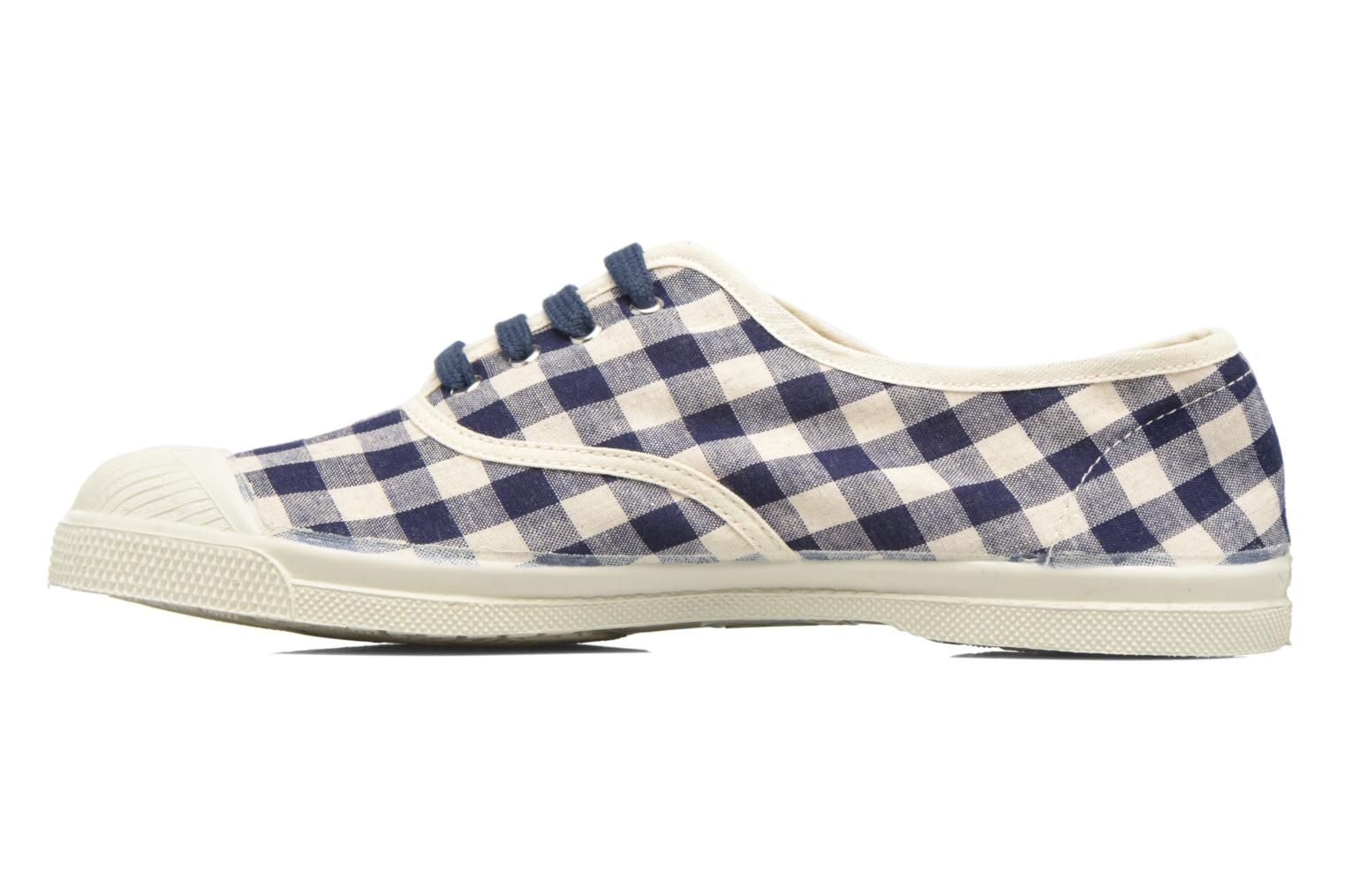 Trainers Bensimon Tennis Vichy Lin Blue front view