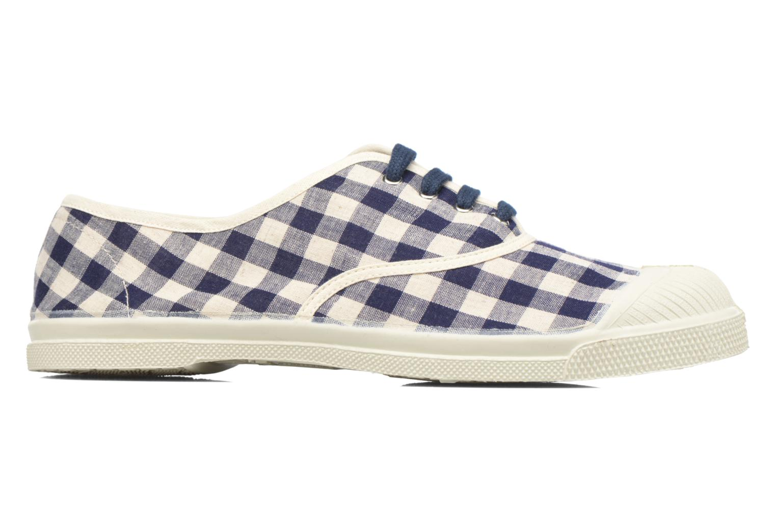 Trainers Bensimon Tennis Vichy Lin Blue back view