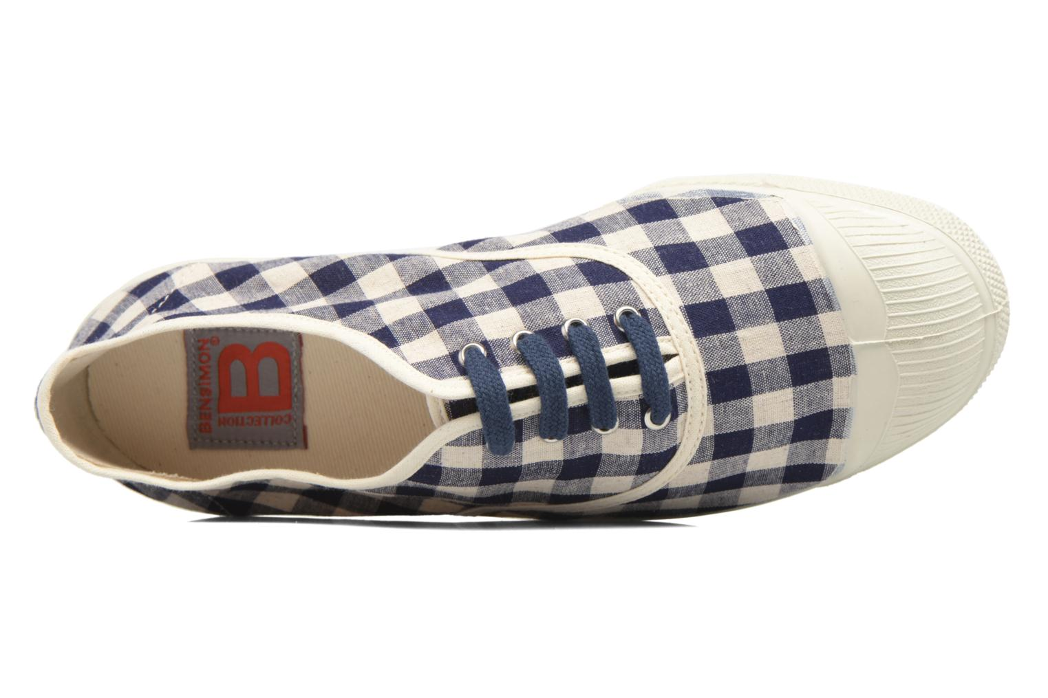 Trainers Bensimon Tennis Vichy Lin Blue view from the left