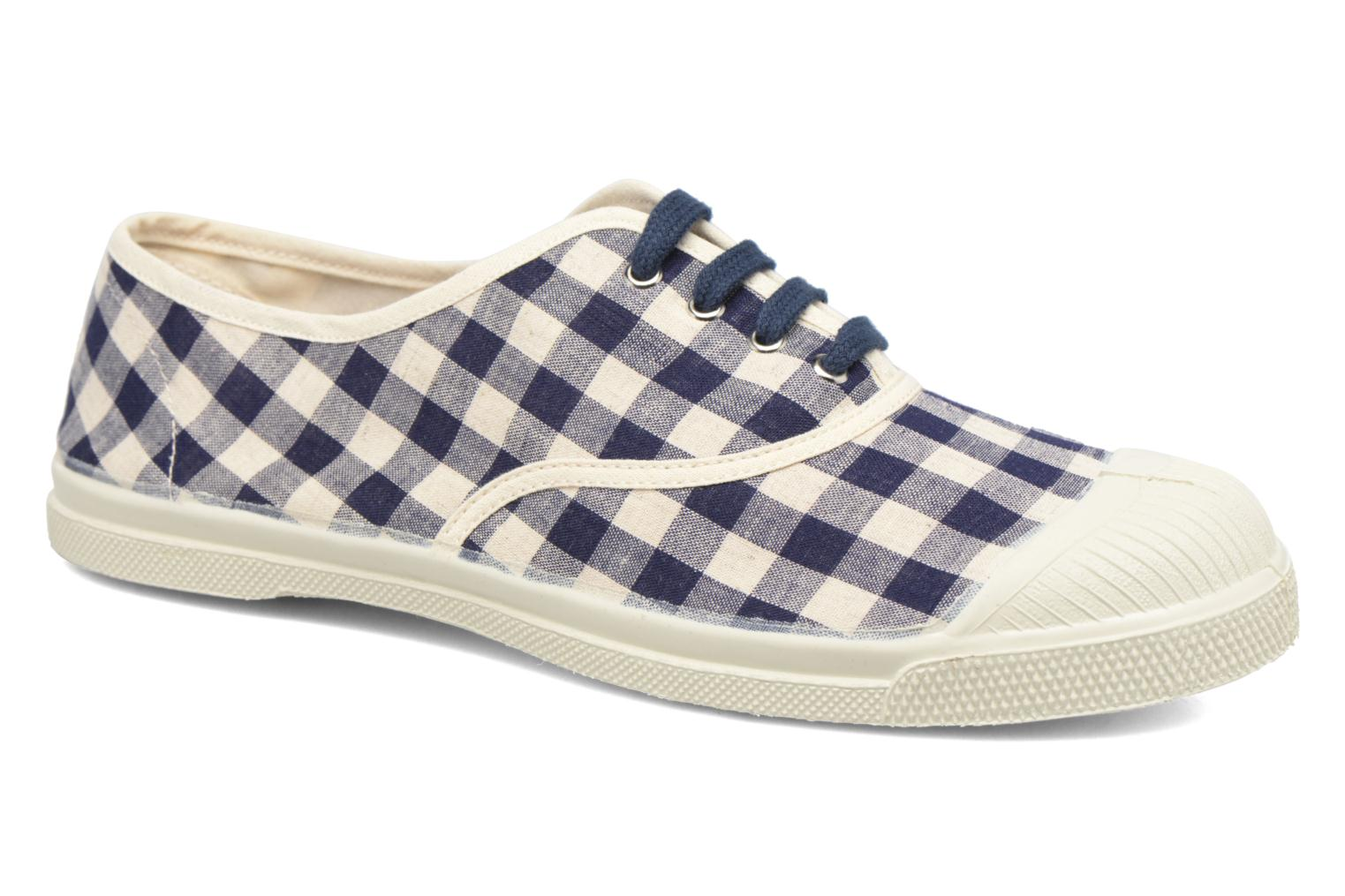 Trainers Bensimon Tennis Vichy Lin Blue detailed view/ Pair view