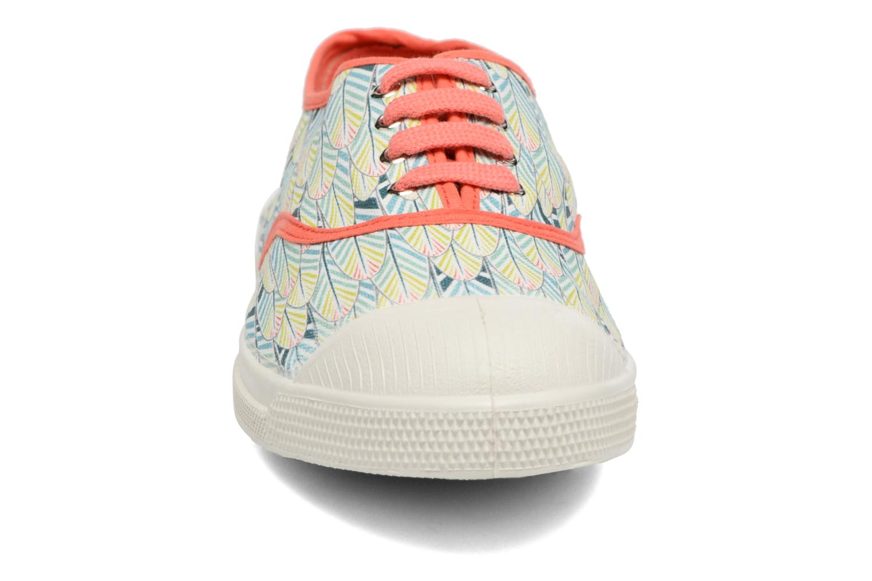 Baskets Bensimon Tennis Plumes Orange vue portées chaussures
