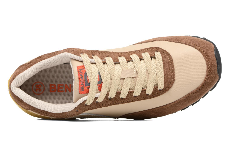 Baskets Bensimon Runnings Marron vue gauche