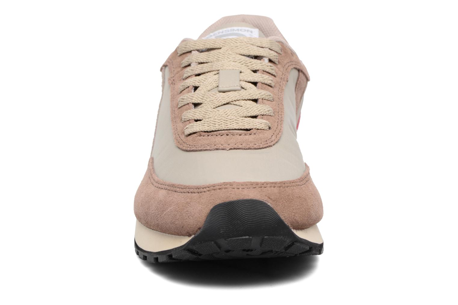 Trainers Bensimon Runnings Beige model view