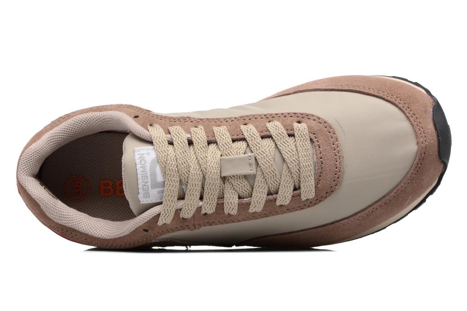 Trainers Bensimon Runnings Beige view from the left