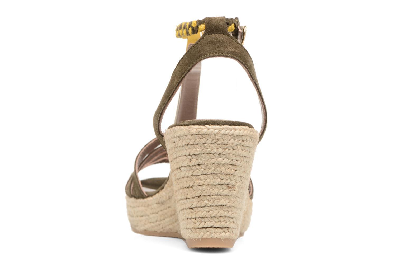 Sandales et nu-pieds Bensimon Compensée Tressée Vert vue droite