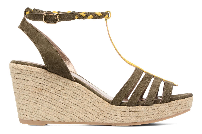 Sandales et nu-pieds Bensimon Compensée Tressée Vert vue derrière