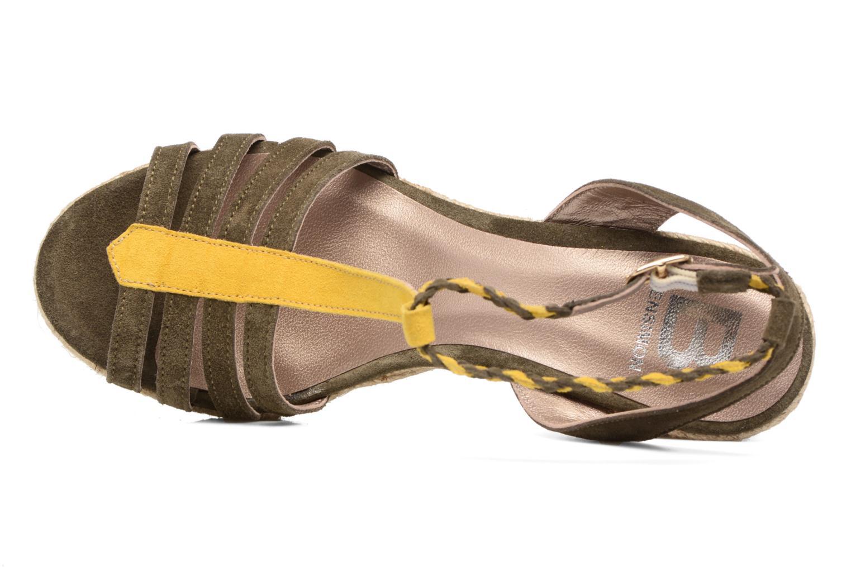 Sandales et nu-pieds Bensimon Compensée Tressée Vert vue gauche