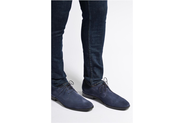 Chaussures à lacets Mr SARENZA Norage Bleu vue bas / vue portée sac