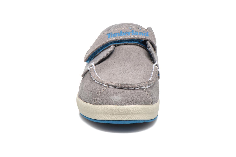 Chaussures à scratch Timberland Dover Bay H&L Boat Gris vue portées chaussures