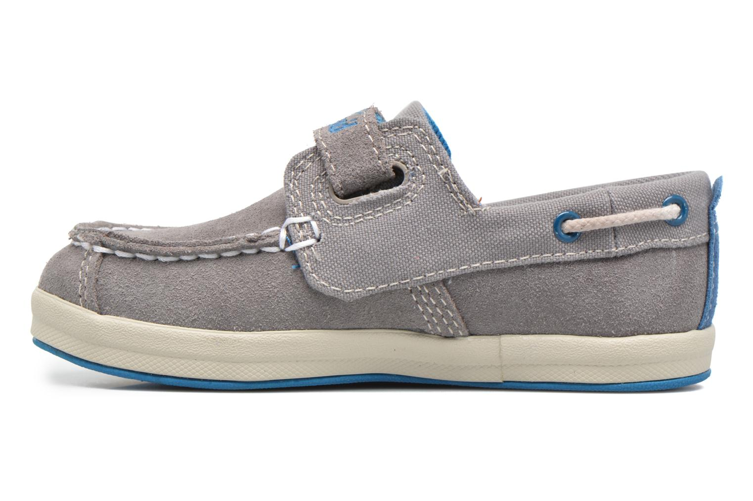 Chaussures à scratch Timberland Dover Bay H&L Boat Gris vue face