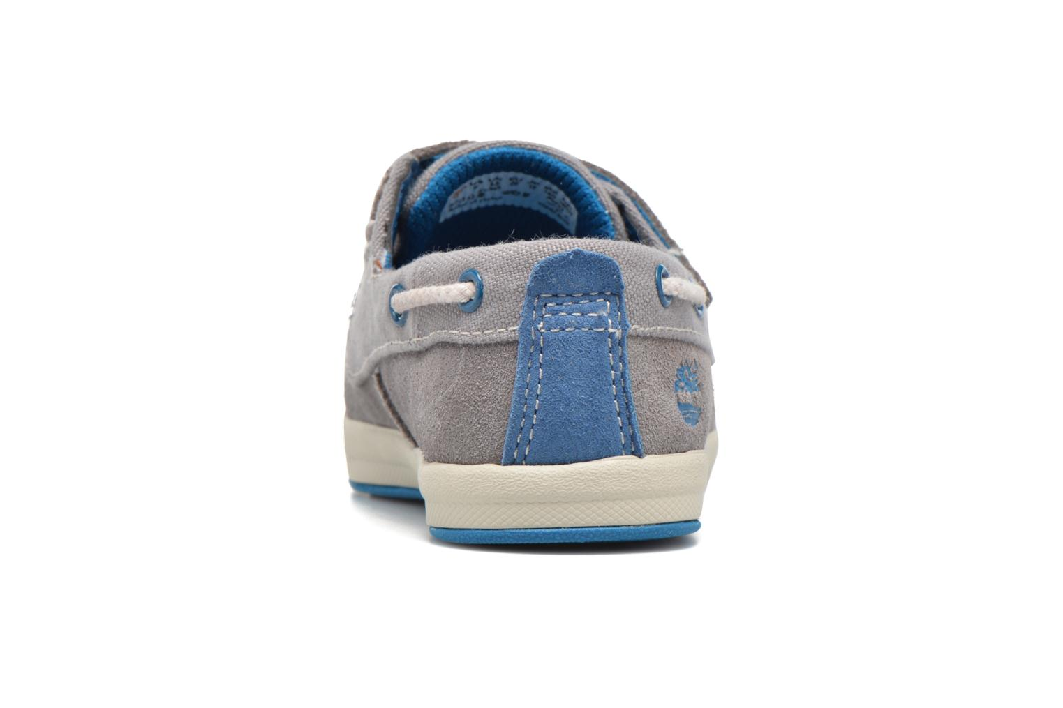 Chaussures à scratch Timberland Dover Bay H&L Boat Gris vue droite