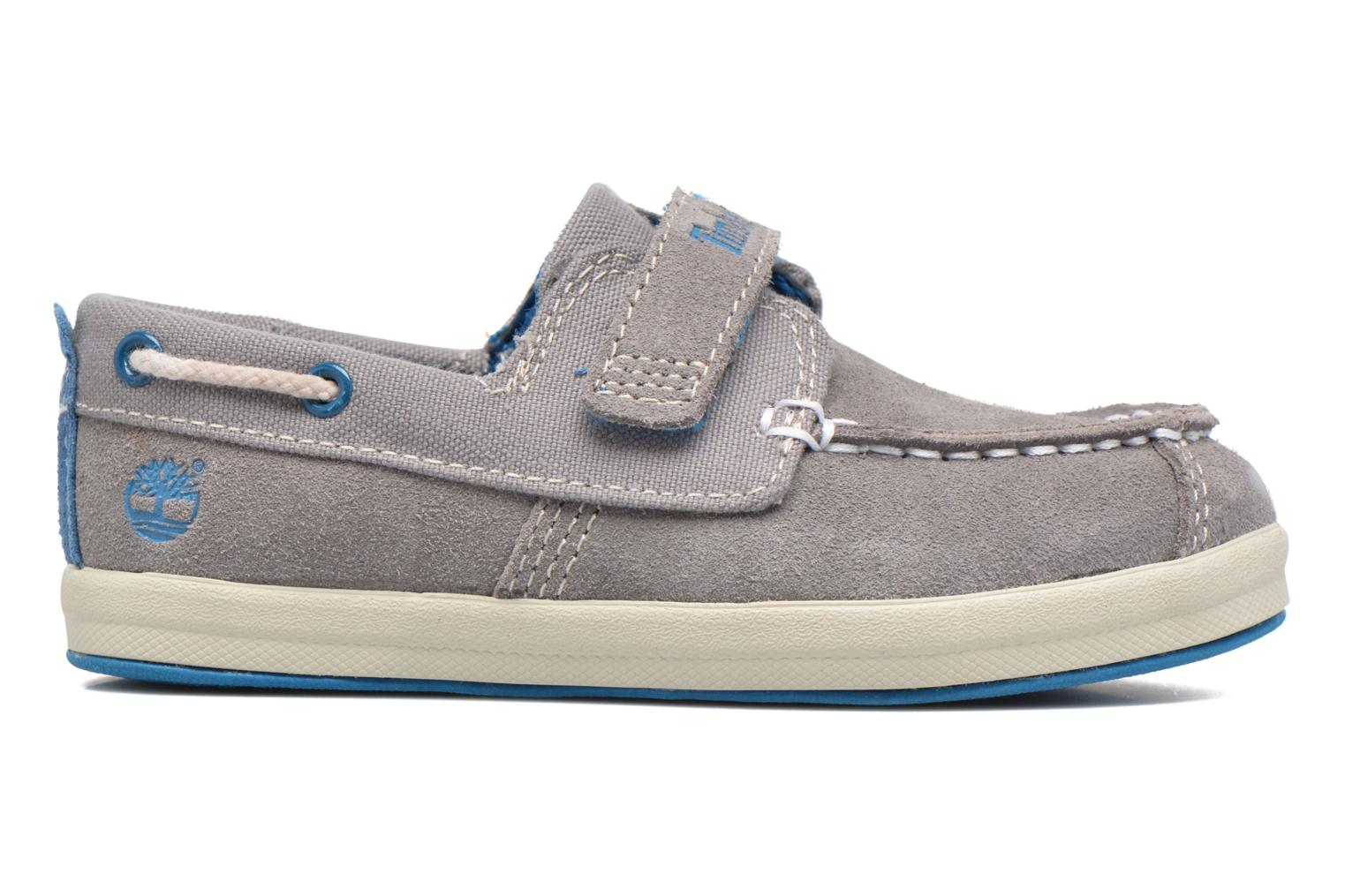 Velcro shoes Timberland Dover Bay H&L Boat Grey back view