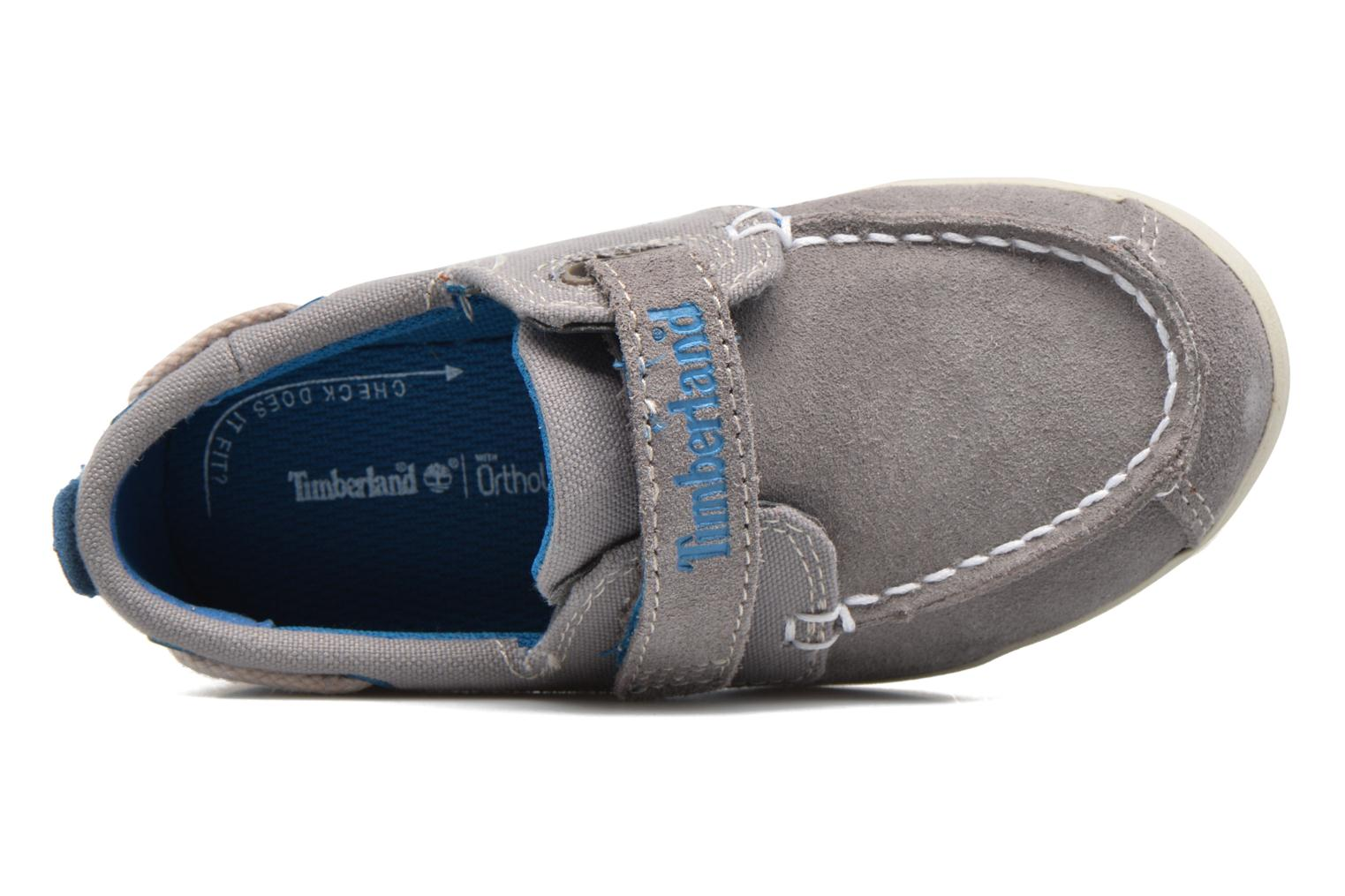 Velcro shoes Timberland Dover Bay H&L Boat Grey view from the left