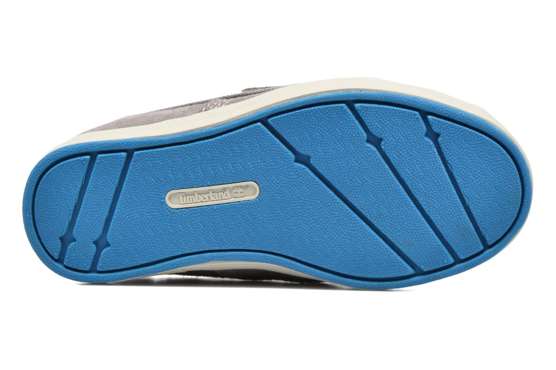 Chaussures à scratch Timberland Dover Bay H&L Boat Gris vue haut
