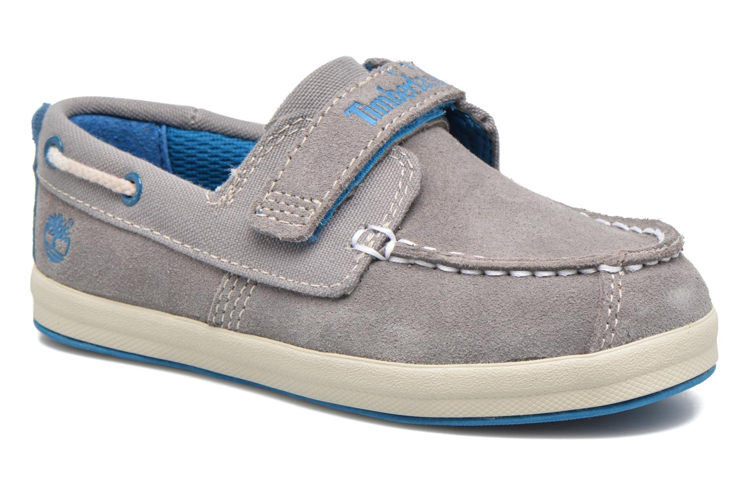 Velcro shoes Timberland Dover Bay H&L Boat Grey detailed view/ Pair view