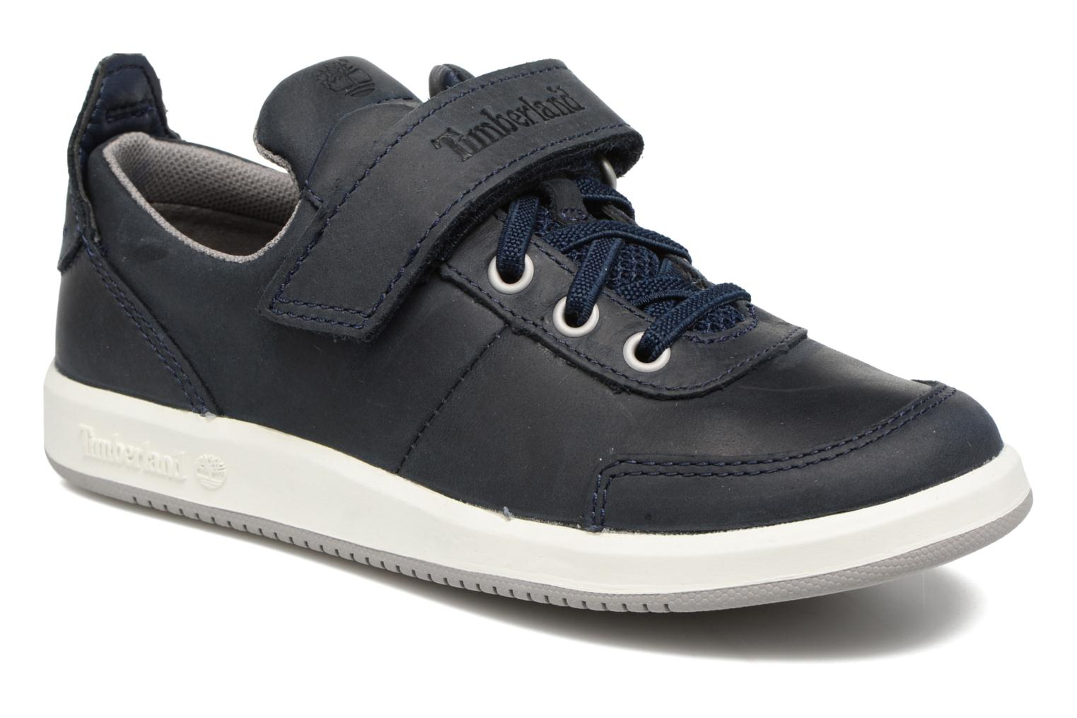 Baskets Timberland Court Side Oxford w/Strap Bleu vue détail/paire