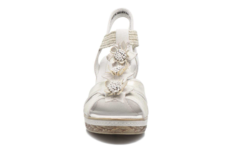 Sandales et nu-pieds Marco Tozzi Jaam Gris vue portées chaussures