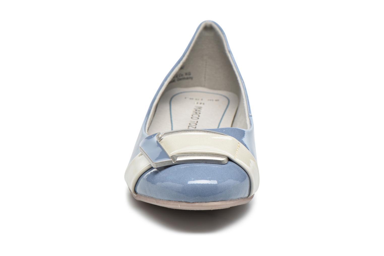 Ballerines Marco Tozzi Milde Bleu vue portées chaussures