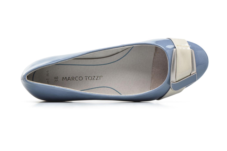 Ballerines Marco Tozzi Milde Bleu vue gauche