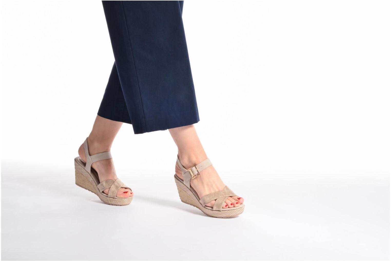 Sandales et nu-pieds Marco Tozzi Boladi Beige vue bas / vue portée sac