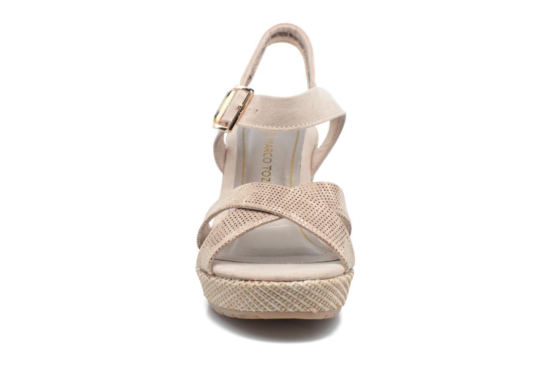 Sandales et nu-pieds Marco Tozzi Boladi Beige vue portées chaussures