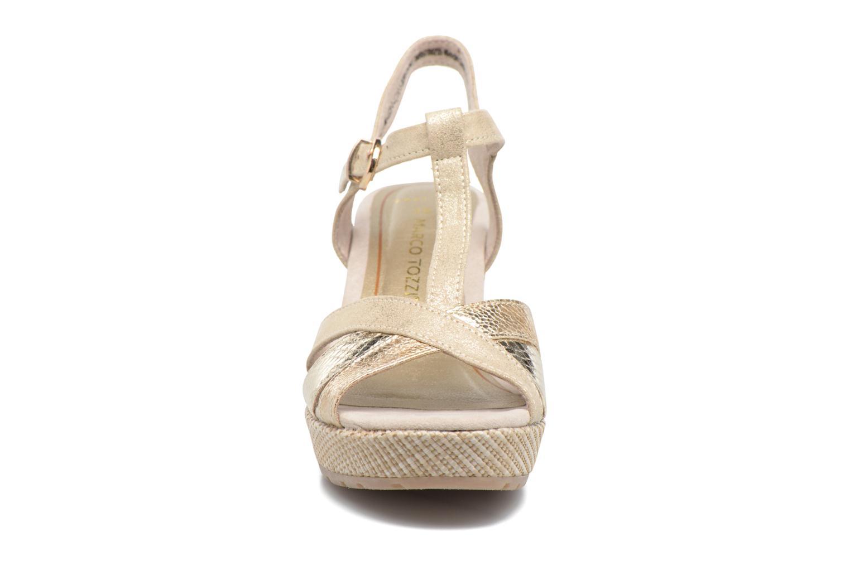 Sandales et nu-pieds Marco Tozzi Ifare Or et bronze vue portées chaussures
